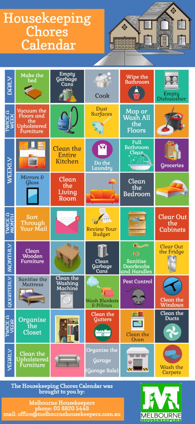 Housekeeping Chores Calendar