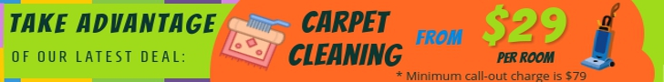 Carpet cleaning deal - from only $29 per room